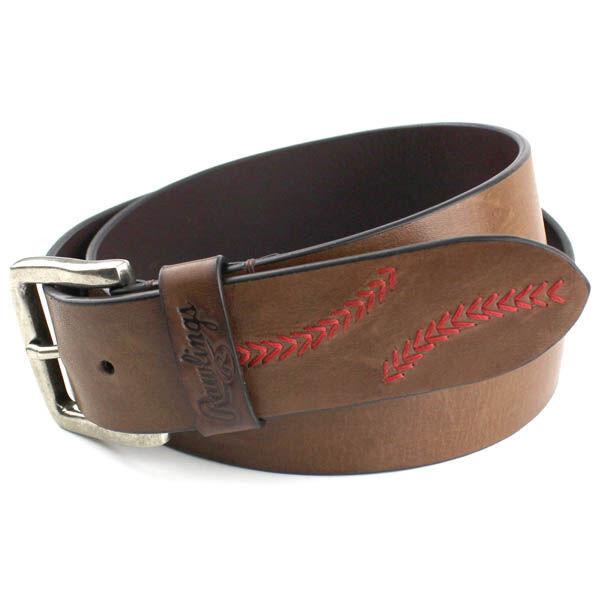 Mardras Leather Baseball Stitch Belt