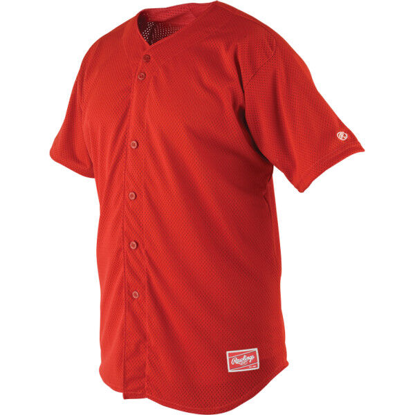Adult Short Sleeve Jersey Scarlet