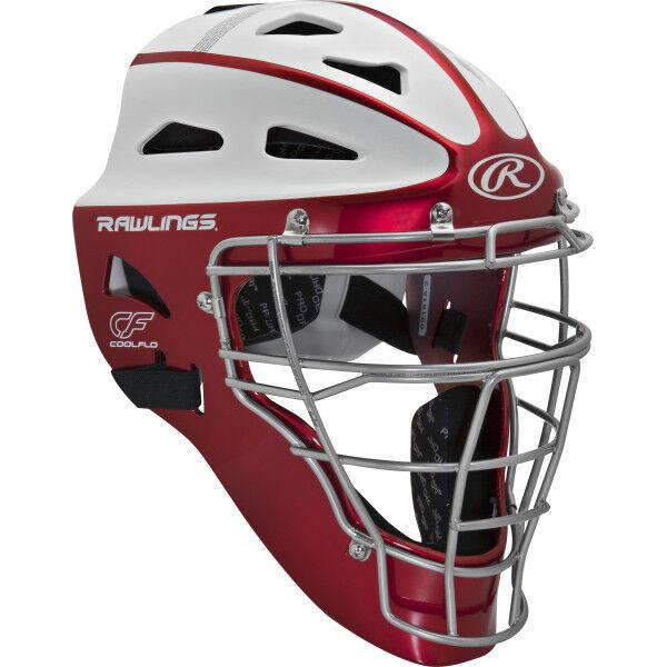 Velo Youth Softball Catchers Helmet Scarlet
