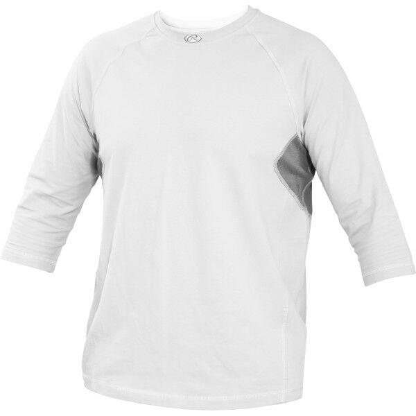 Adult 3/4 Length Sleeve Shirt White