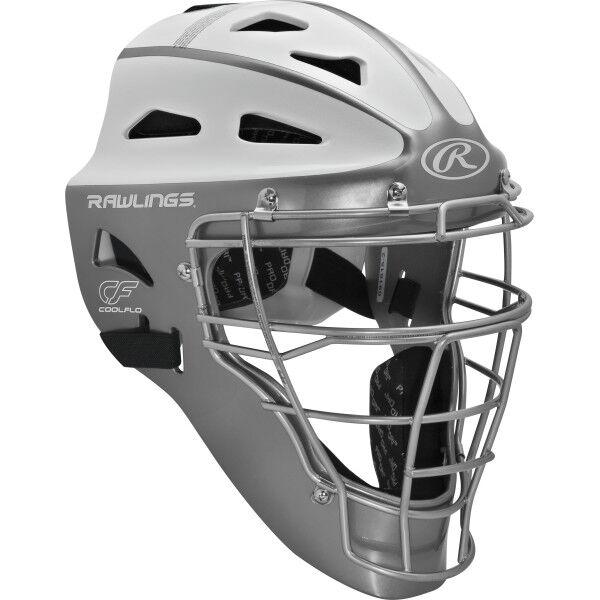 Velo Youth Softball Catchers Helmet Silver