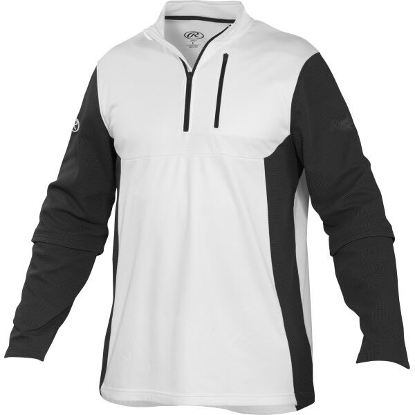 Adult Long Sleeve Shirt White/Black