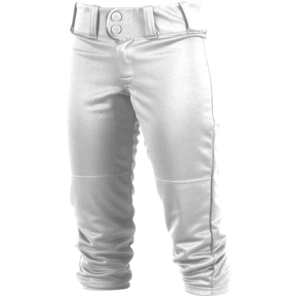 Women's Low-Rise Softball Pant White