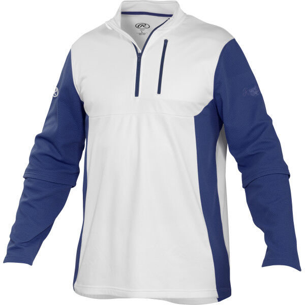 Adult Long Sleeve Shirt White/Navy