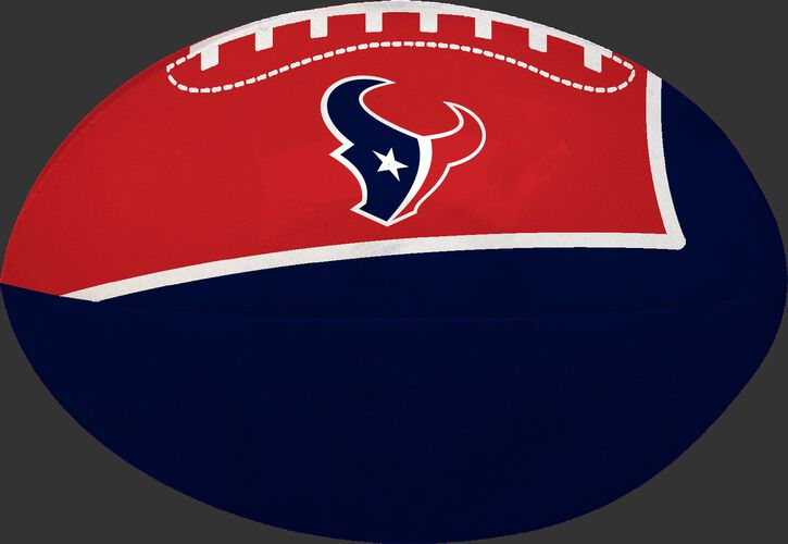Navy and Red NFL Houston Texans Football With Team Logo SKU #07831093114