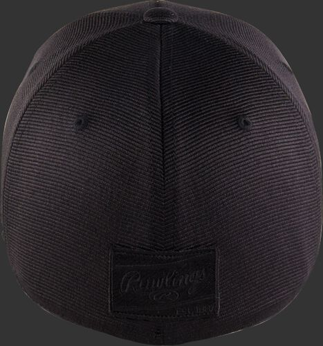 Back of a blackout Rawlings Black Clover fitted hat - SKU: BC0BO00071