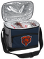 An open Chicago Bears 12 can cooler with ice and drinks image number null