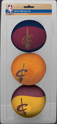 Rawlings Burgundy, Brown, and Gold NBA Cleveland Cavaliers Three-Point Basketball Set With Team Logo SKU #03524199114