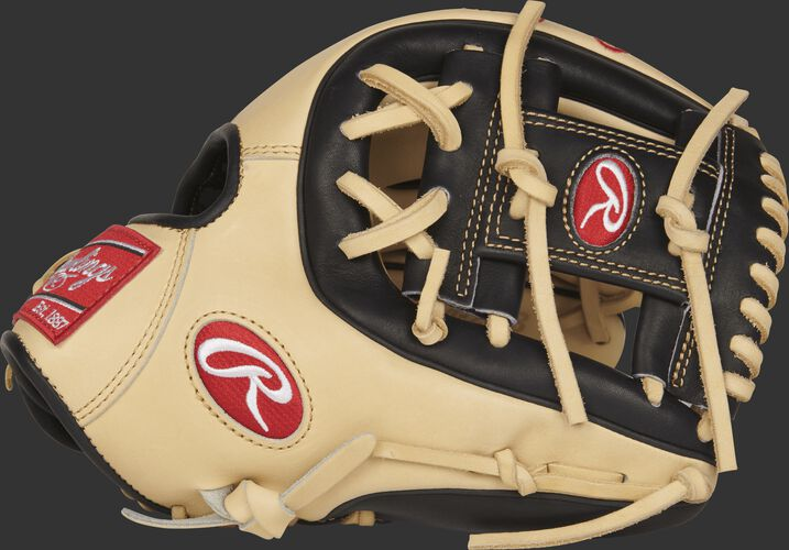 Thumb view of a Rawlings PRO314-2CB 11.5-inch infield glove with a black I web