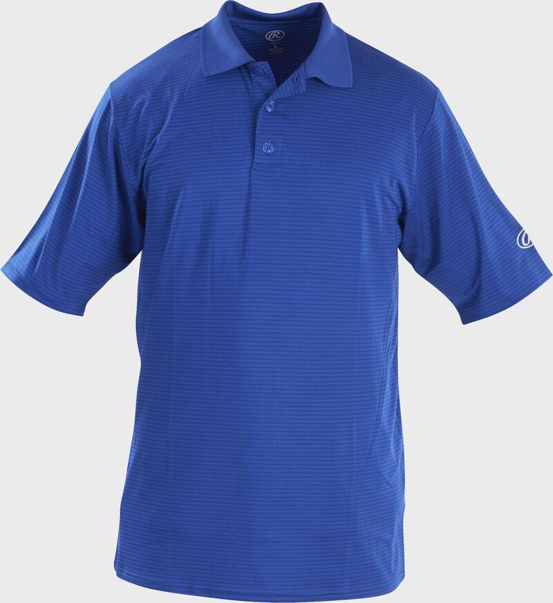 Front of Rawlings Adult Royal Short Sleeve Polo Shirt - SKU #GGPOLO