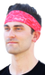 A guy wearing a red Rawlings multi-purpose neck gaiter as a head band - SKU: RC40005-600 image number null