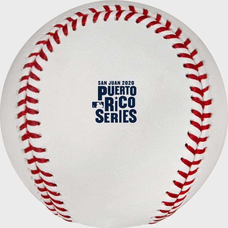 The 2020 Puerto Rico Series logo stamped on a MLB baseball - SKU: ROMLBPRS20