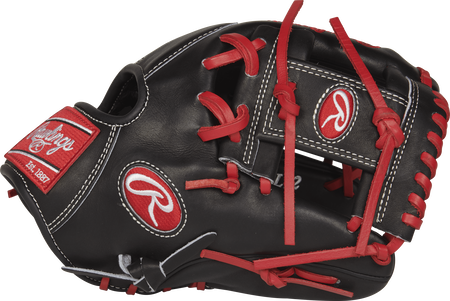Thumb view of a PROSFL12 Pro Preferred Francisco Lindor 11.75-inch Game Day glove with a black I web