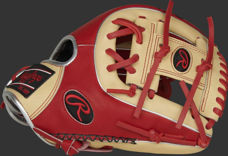 Thumb of a 2020 exclusive Heart of the Hide R2G infield glove with a camel I-web and hand sewn welting - SKU: PROR314-2SC