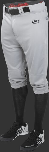 Front of Rawlings Blue Gray Adult Launch Knicker Baseball Pant - SKU #LNCHKP