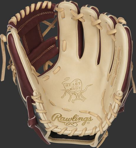 PRO314-2CSHCF Rawlings ColorSync 4.0 infield glove with a camel palm and camel laces