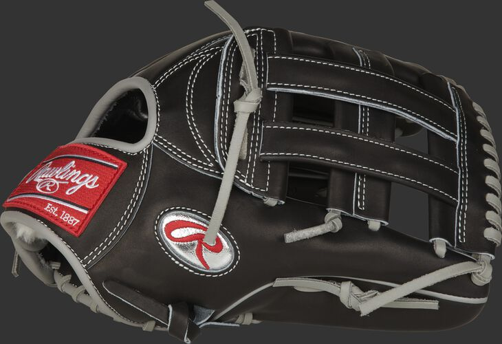 Thumb of a black Gameday 57 Series Kevin Kiermaier Pro Preferred glove with a platinum Oval-R - SKU: PROS3039-KK39