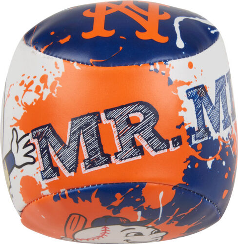 Top of Rawlings New York Mets Quick Toss 4'' Softee Baseball With Team Mascot Name On Front In Team Colors SKU #01320017112