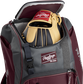 A Rawlings baseball glove in the top compartment of a Franchise baseball backpack - SKU: FRANBP-MA image number null