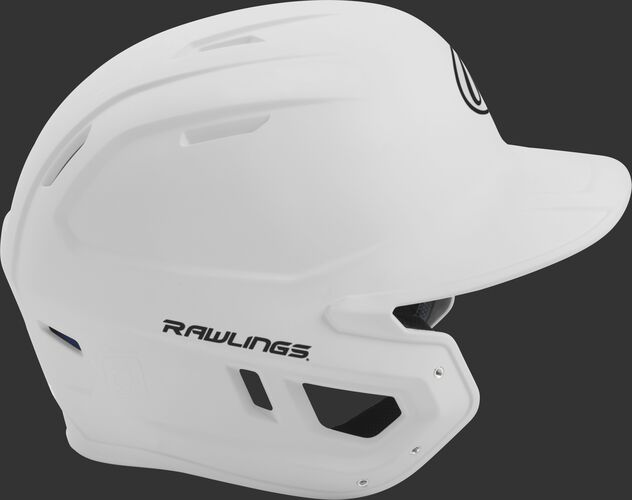 Right side of a matte white MACH helmet