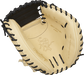 Camel palm of a Rawlings HOH ColorSync 5.0 catcher's mitt with a black web and black laces - SKU: PROCM43CBG image number null