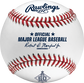 A MLB 2021 Los Angeles Angels 60th Anniversary baseball with the Official ball of MLB stamp - SKU: EA-ROMLBLAA60-R image number null