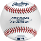 An Official League competition grade baseball with red seams and blue stamping - SKU: ROLB1 image number null