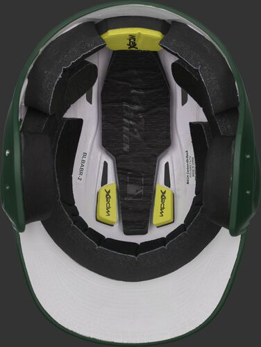 Inside of a CAR07A adult MACH Carbon helmet with IMPAX high performance, durable foam padding
