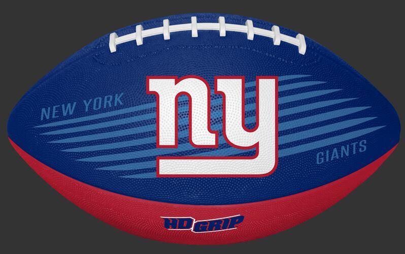 Blue and Red NFL New York Giants Downfield Youth Football With Team Logo SKU #07731078121