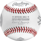 An official ALCS19DL 2019 American League Championship Series dueling baseball with the league commissioner's signature image number null