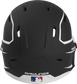 Back of a MACHEXTR high performance junior MACH helmet with a matte black/white shell and Official Batting Helmet of MLB logo image number null