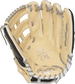 Palm view of a camel PRO3039-6BCFS Rawlings 12.75-inch finger shift outfield glove with grey laces image number null