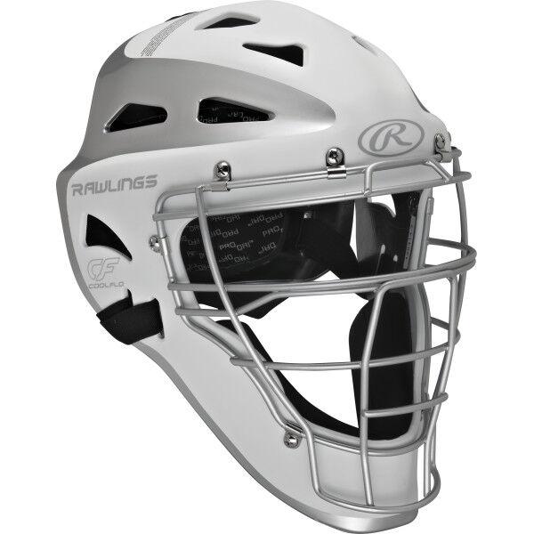 Velo Adult Catchers Helmet White/Silver