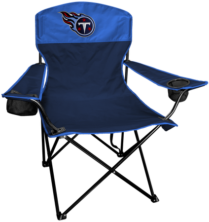 NFL Tennessee Titans Lineman chair with team colors and logo on the back