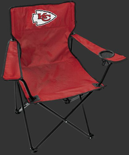 Front of Rawlings Red NFL Kansas City Chiefs Gameday Elite Chair With Team Logo SKU #00551071111