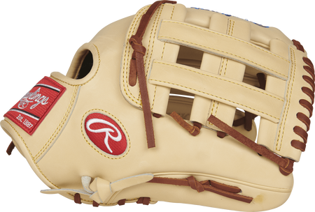 Thumb view of a Pro Preferred PROSKB17 12.25-inch Kris Bryant Game Day infield glove with a camel H web