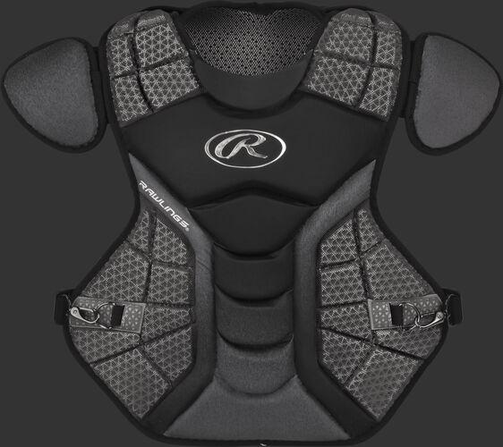 A black/graphite CPVEL Velo series intermediate chest protector