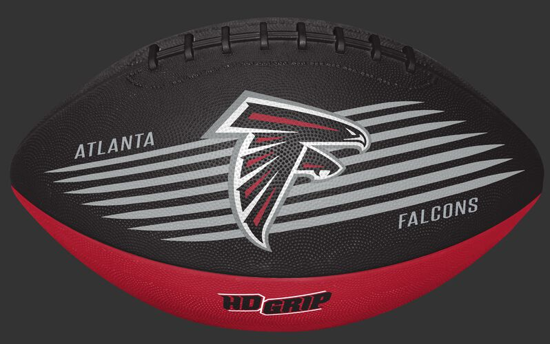 Black and Red NFL Atlanta Falcons Downfield Youth Football With Team Logo SKU #07731060121