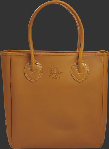 Side of a tan HOHTOT2 HOH Tote bag crafted from HOH leather