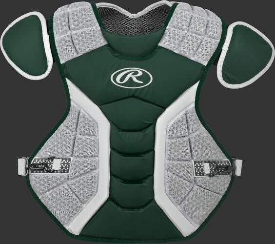 A dark green/grey CPPRO Pro Preferred adult chest protector