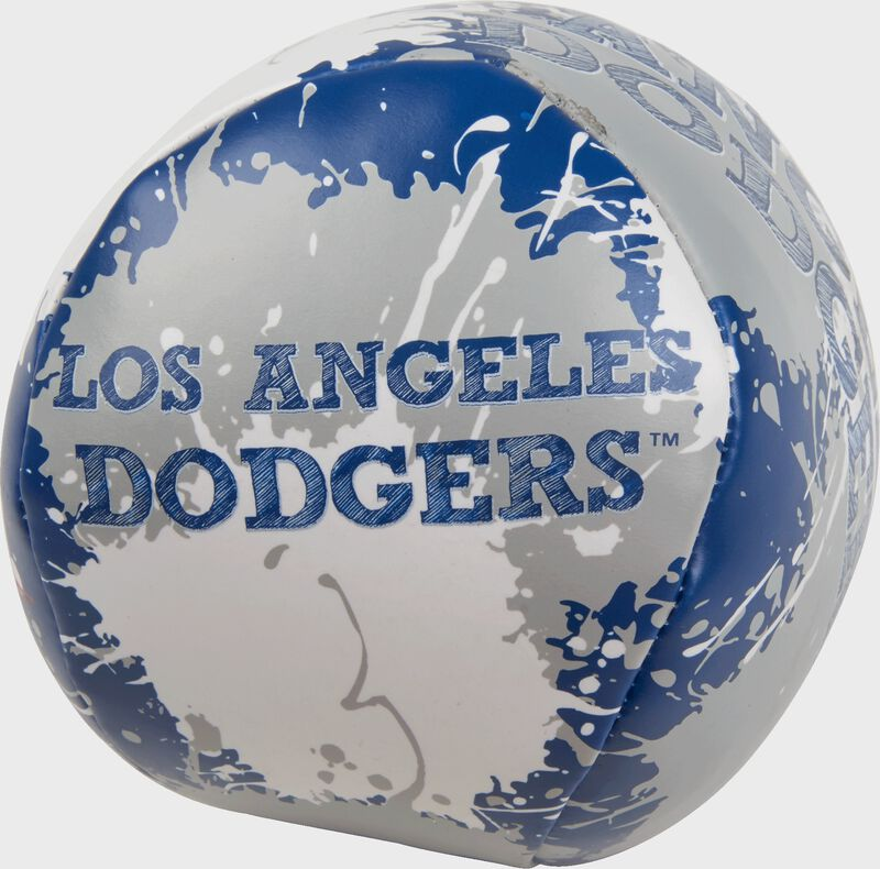 Rawlings Los Angeles Dodgers Quick Toss 4'' Softee Baseball With Team Name On Front In Team Colors SKU #01320011112
