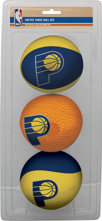 NBA Indiana Pacers Three-Point Softee Basketball Set