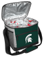 An open Michigan State Spartans 24 can cooler filled with ice and drinks - SKU: 10223038111 image number null