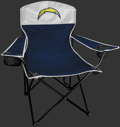 Front of Rawlings Navy and White NFL Los Angeles Chargers Lineman Chair With Team Logo SKU #31021083111