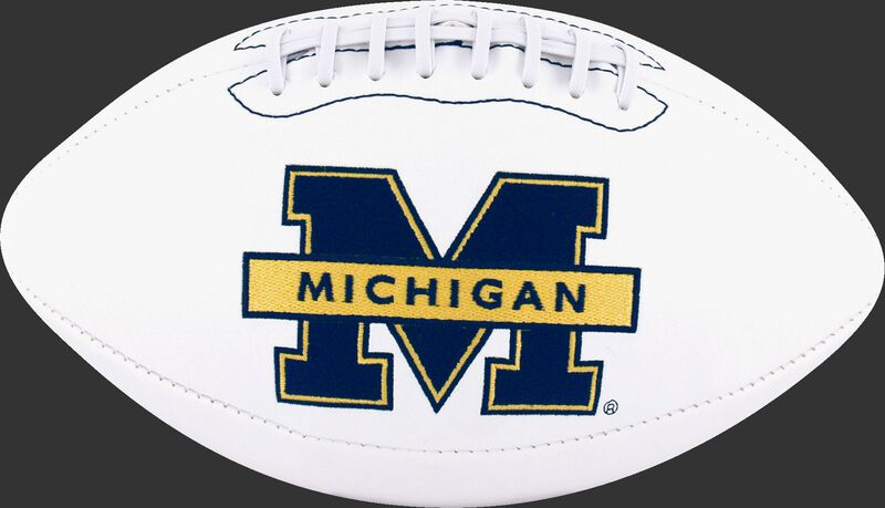 White NCAA Michigan Wolverines Football With Team Logo SKU #05733083121