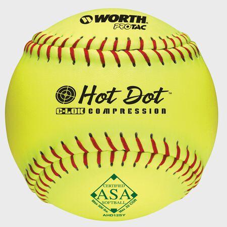 ASA 12 in Hot Dot Softballs (AHD12SY)