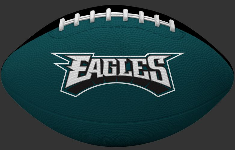 Green side of a Philadelphia Eagles Gridiron tailgate football with team name SKU #09501080122