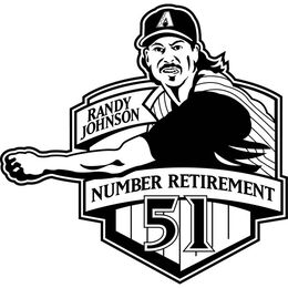 MLB 2009 Randy Johnson Retirement Baseball