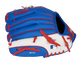 Back of a blue/white Rawlings Chicago Cubs youth glove with the MLB logo on the pinky - SKU: 22000008111 image number null