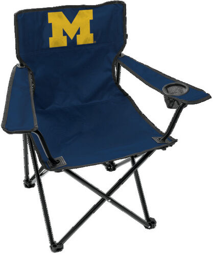 Front of Rawlings Navy Blue NCAA Michigan Wolverines Gameday Elite Chair With Team Logo SKU #00563083111